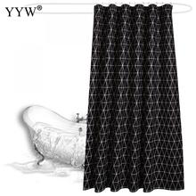 1pcs Peva Black Bath Shower Curtain Bathroom Screens Eco-Friendly Products Moldproof Waterproof Curtains
