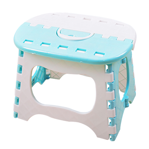 Hot Sale Plastic Folding Stool 6 Type Thicken Chair Portable Home Furniture Child Convenient Dinner Stools Light Blue