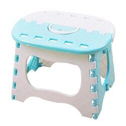Venda quente plástico dobrável fezes 6 tipo engrossar cadeira portátil mobiliário doméstico criança conveniente jantar fezes azul claro