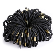 100 Pcs/set Black Elastic Hairbands for Girls Fashion Women Scrunchie Gum Hair Accessories Bands