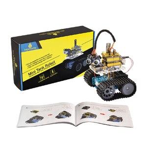 Image 5 - Keyestudio DIY מיני טנק חכם רובוט רכב ערכת לarduino רובוט חינוך תכנות + ידני + PDF (באינטרנט) + 5 פרויקטים