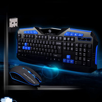 AZZOR Waterproof Gaming 2.4G Wireless Keyboard With Mouse Set to Computer Multimedia Gamer wireless keyboard and mouse For PC