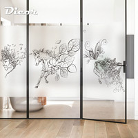 DICOR Brand Art Window Film Solid Color Sketch Animals Creative Fashion Glass Sticker BLT2206