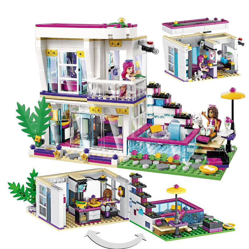 760pcs Compatible Legoinglys Friends Girl Series Wild Villas Building Blocks Kit Toy DIY Educational Children Christmas Gifts