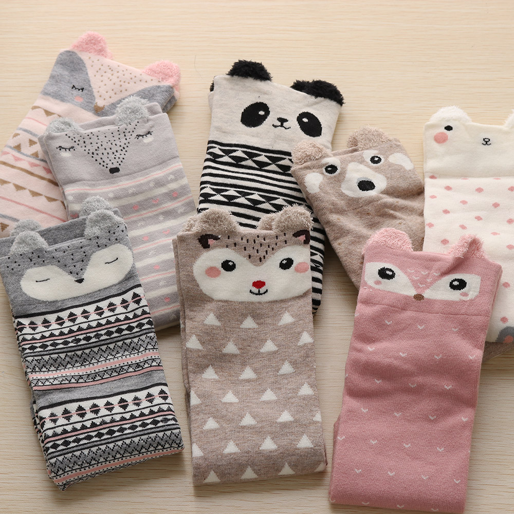 1Pair 2018 New Cute Animal Ears Pattern Short Socks