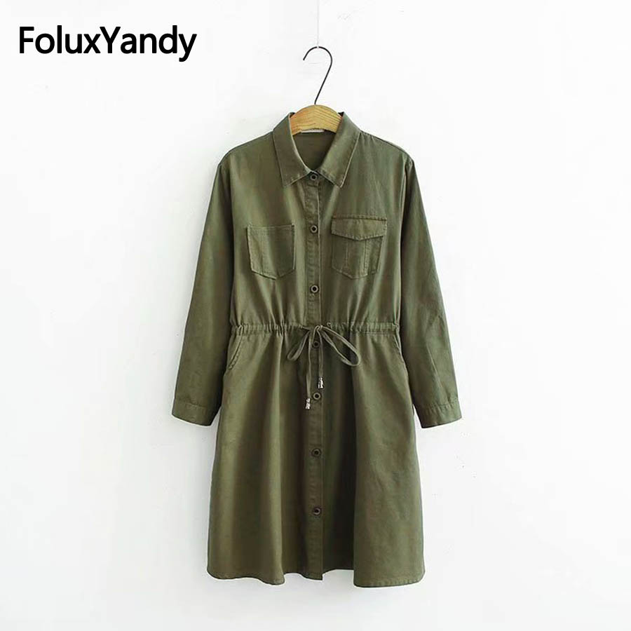 Adjustable Waist Women Loose   Trench   Coat Plus Size 3XL 4XL Casual Long Sleeve Autumn Spring   Trench   Outerwear KKFY2415
