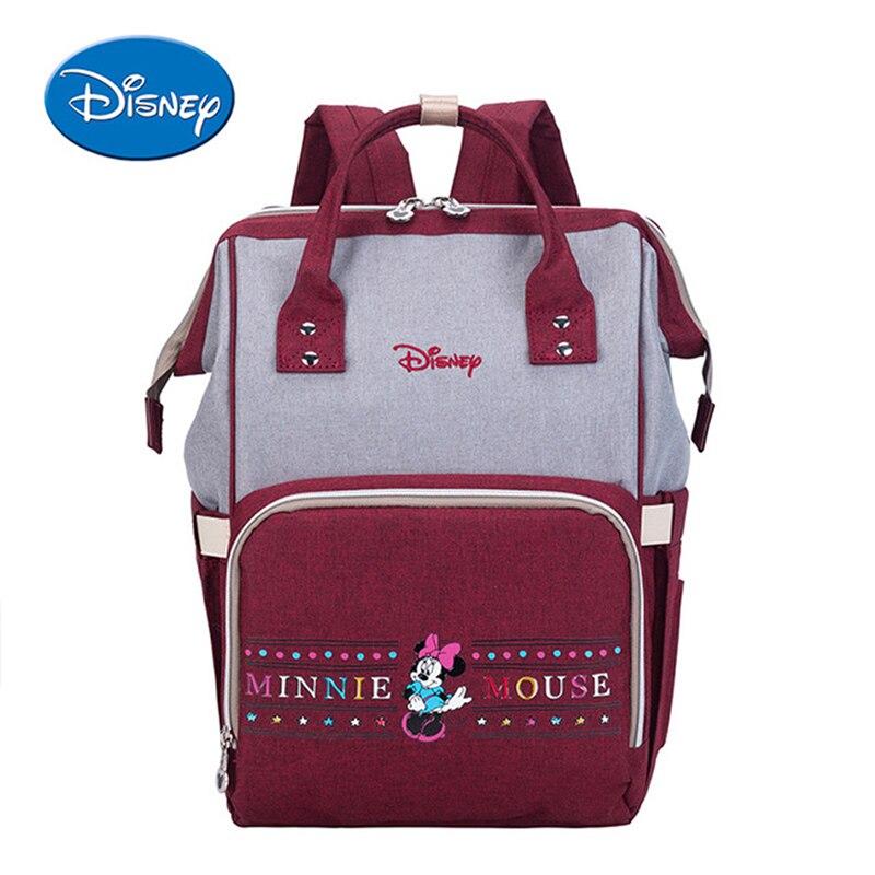 Sacs à langer Disney Mickey Minnie sac à main poussette sac à dos de voyage grande capacité momie maternité sac à langer soin bébé