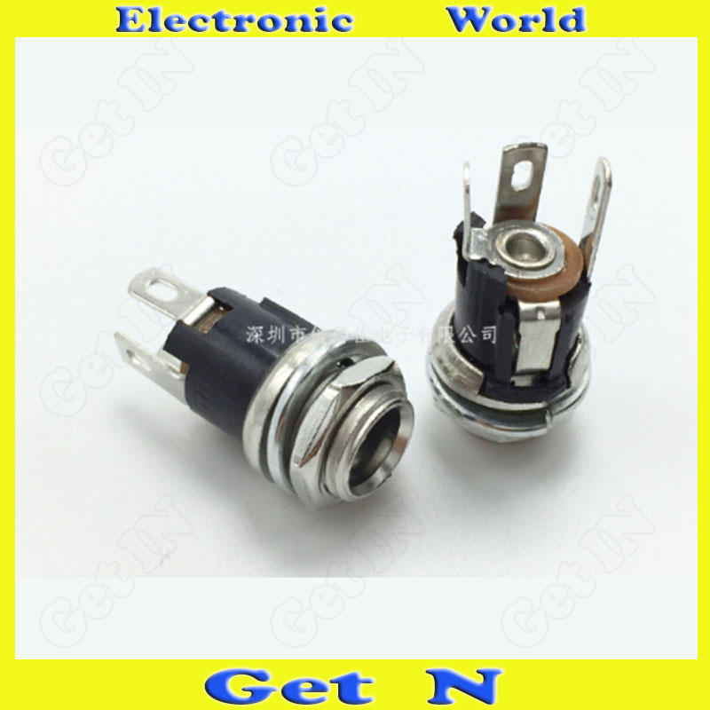 500pcsDC 005 DC 025M 5 5 2 1mm Metal DC Power Socket DC Power Connector Jack