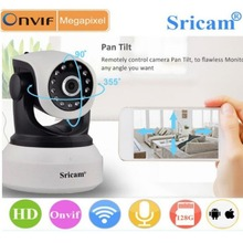 Оригинальный Sricam SP017 беспроводной 720 P IR-Cut ночного видения камера P2P детский монитор аудио wifi CCTV камера ночного видения безопасность ip-камера