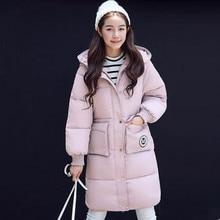 2016 зима пальто хлопка женщин свежий чистый Корея студентов в длинные зимняя куртка толщиной талии тонкий тонкий женский пальто горячий продавать