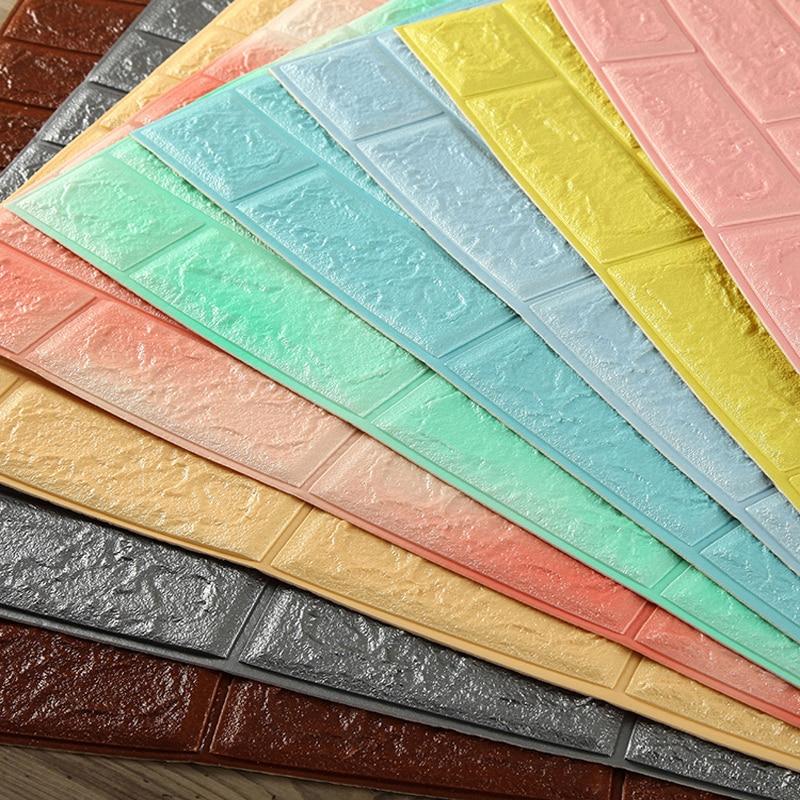 70*77cm 3D Brick Wall Stickers Living Room Bedroom Decor Home Waterproof Foam DIY Self Adhensive Wallpaper Art Home Wall Decals