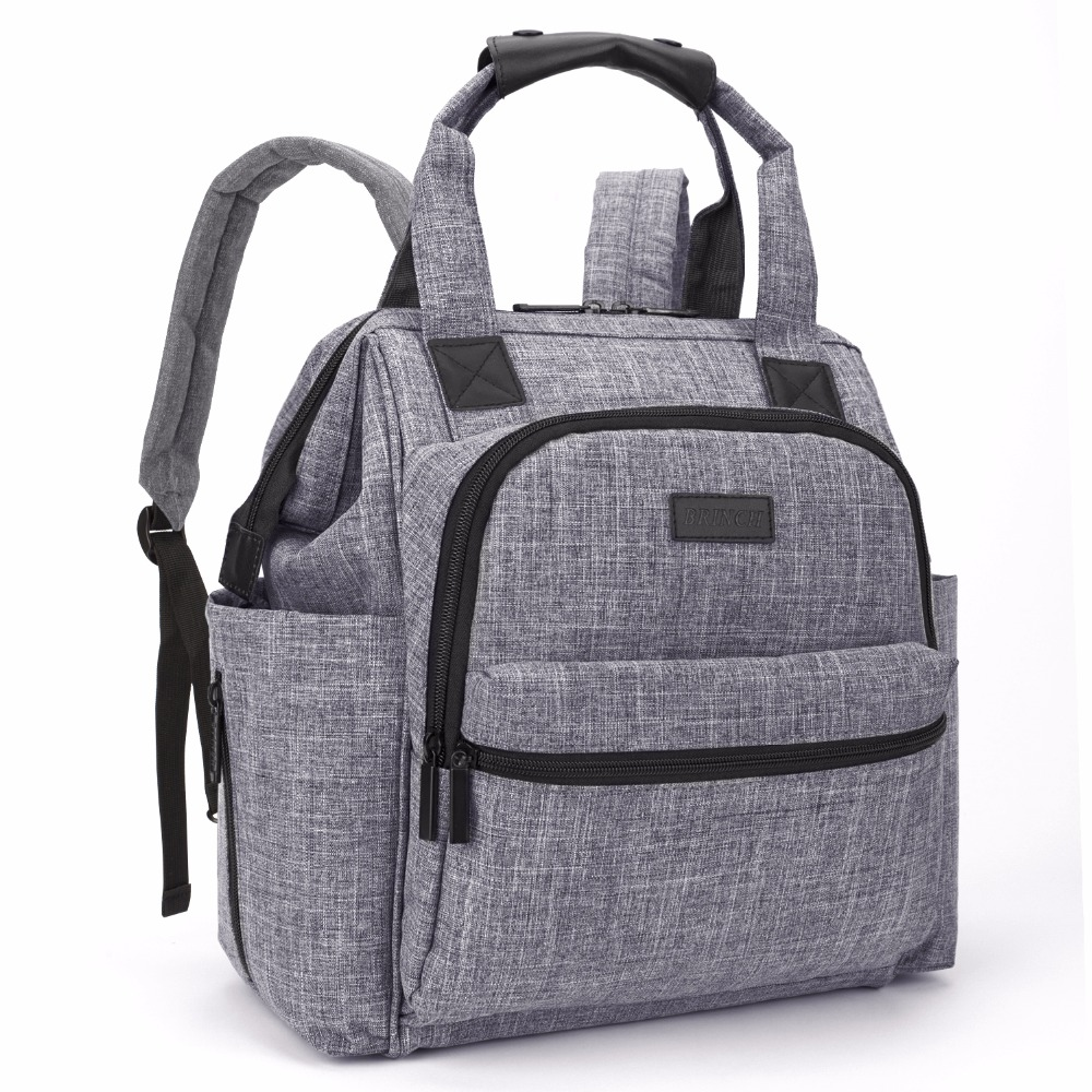 BRINCH Brand Baby Diaper Nappy Bag Backpack Multifunctional Stroller Bag For Mom Waterproof Handbag Organizer with Changing Pad