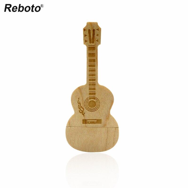 Guitar usb flash drive 64GB 4GB 8GB 16GB 32GB wooden memory stick pen drive wood usb stick pendrive flash disk