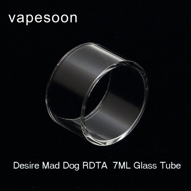Vapesoon Replacement Glass Tube For Desire Mad Dog Rdta Ml Atomizer Retail Package