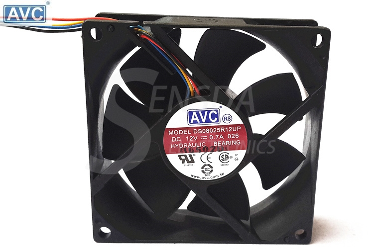 AVC 8025 DS08025R12UP 80mm 8cm DC 12V 0.7A 4Wire Computer case CPU Cooler Cooling Fan