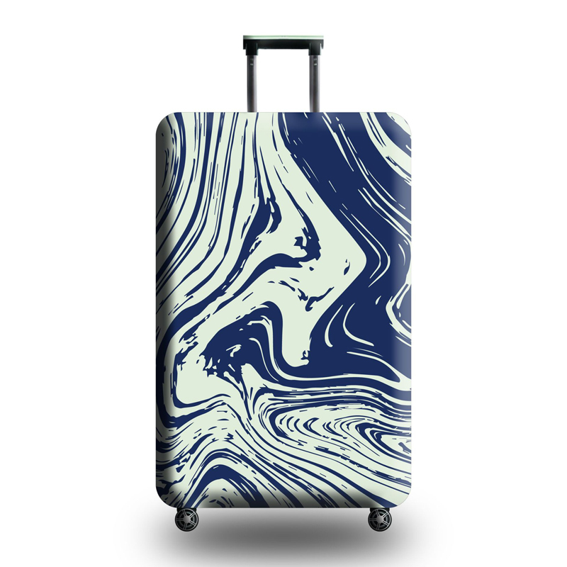 Art Creative Cartoon Tree suitcase cover elastic suitcase cover zipper luggage case removable cleaning suitable for 29-32 trunk cover