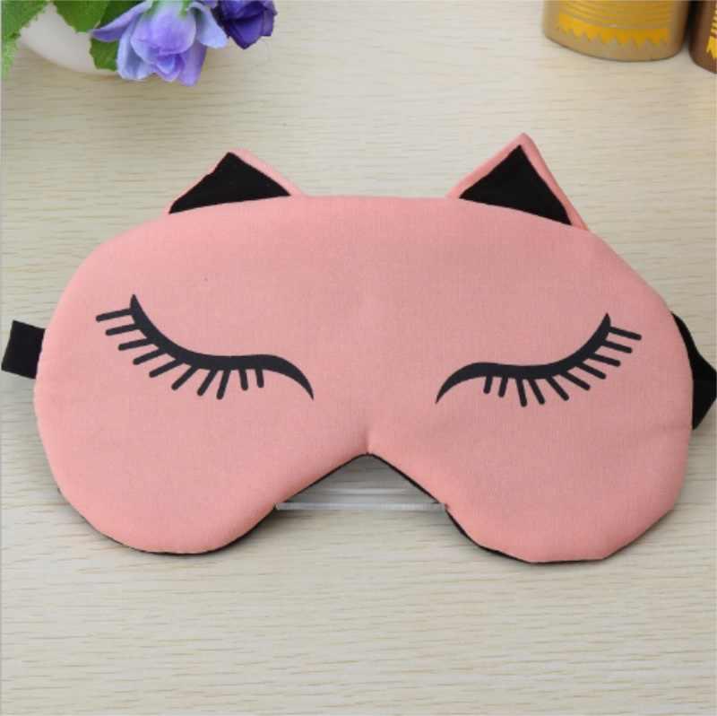 แมวตาน่ารักหน้ากากน้ำแข็งร้อนแพ็คกระเป๋า Eyeshade สาว Breathable Sleeping Eyepatch Blindfolds ผ่อนคลาย/โดย dhl 100 pcs