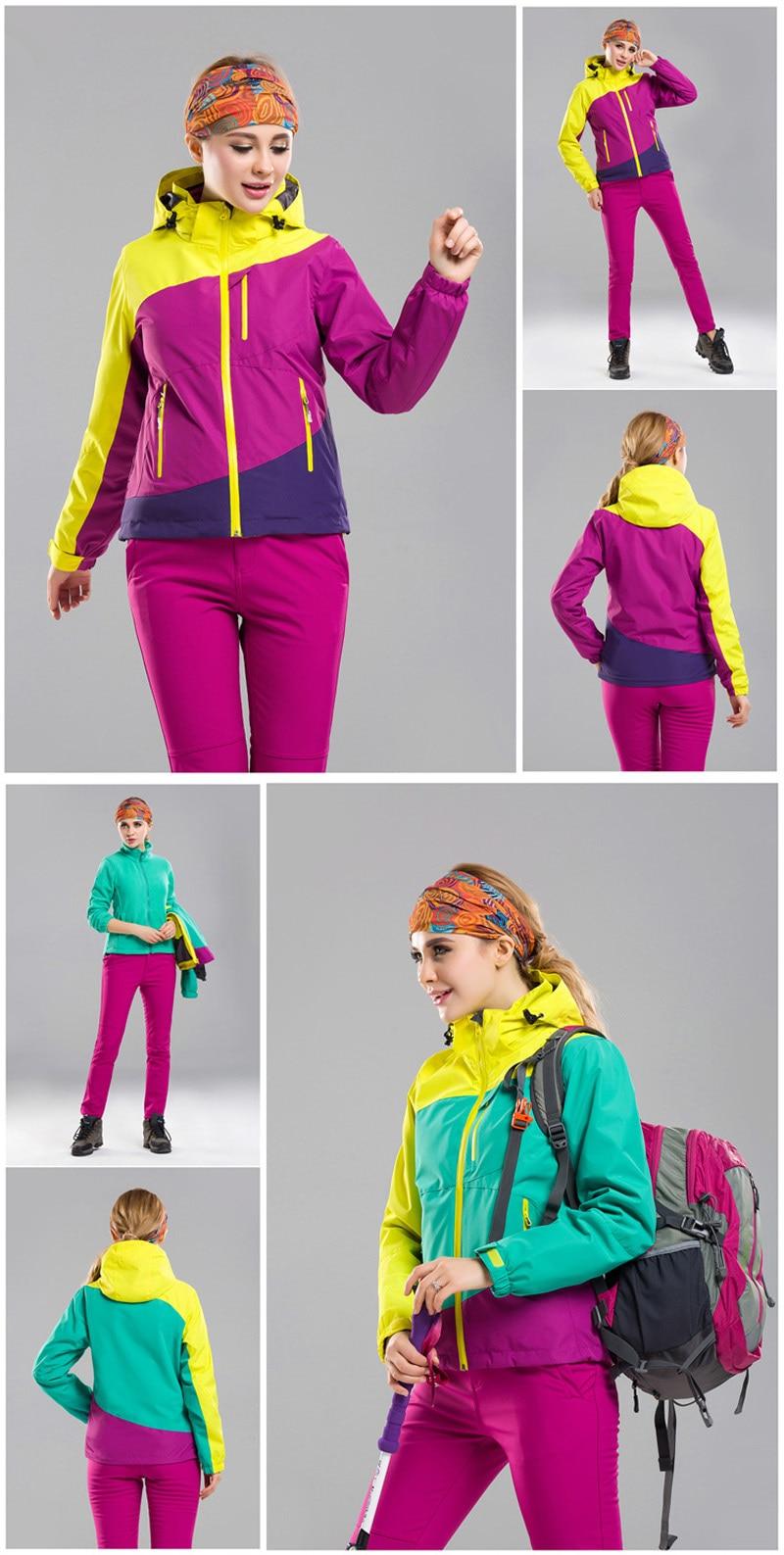 Nova jaqueta softshell 3in1 das mulheres caminhadas