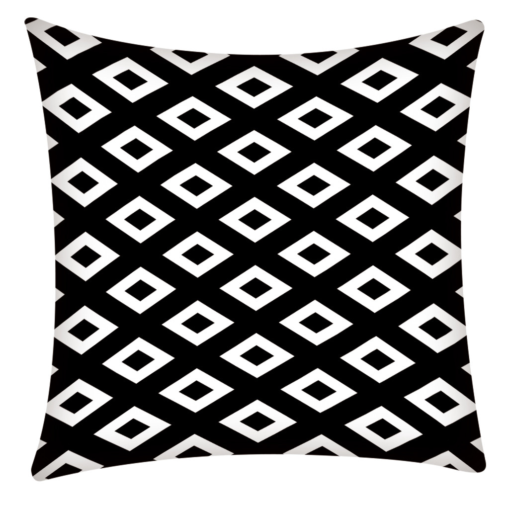 Image 2 - Print Pillowcase Polyester Sofa Car Cushion Cover Home Decor 45X45cm Home Decor Kussenhoes Housse de Coussin Pillow Cojine Hot-in Cushion Cover from Home & Garden