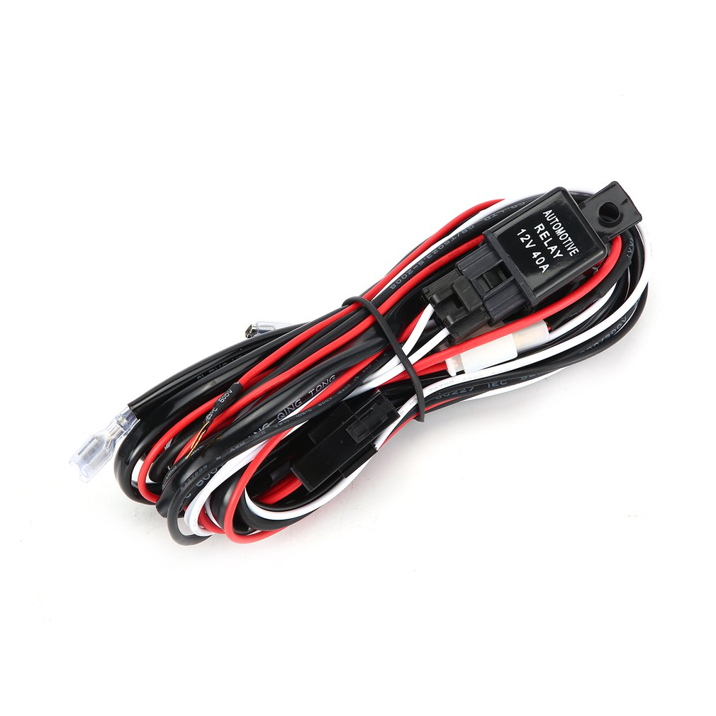 2.5M LED HID Driving Wiring Harness Kit Fog Spot Work Light Wire Set With 12V 40A Switch Relay Off-road Vehicle Supplies