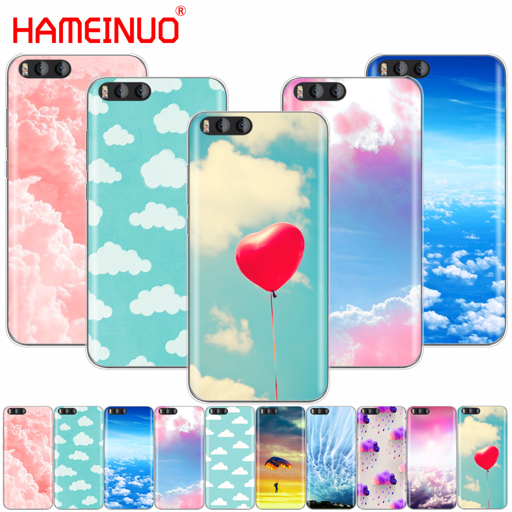 HAMEINUO clouds on blue sky Cover Case for Xiaomi Mi A1 A2 3 4 5 5S 5C 5X 6 6X 4S 4I 4C NOTE MAX 2 mix plus