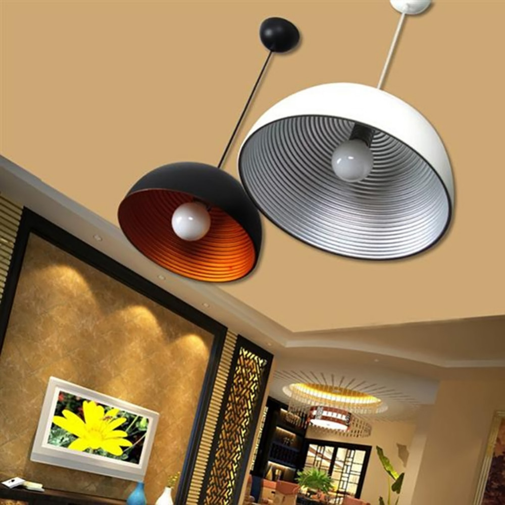 Big Screw Thread Modern Brief style Pendant Lights Iron Ceiling Lamp for dinning room study garden home decor modern e27 colorful silicone lamp holder 220v pendant lights 12 color pendant lights 100cm cord ceiling base for dinning room