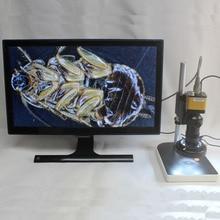 Wholesale prices 1080P 60fps HDMI Industrial Digital Microscope Camera+8X-130X Optical C-Mount Lens+Adjustable LED Lights+Adjustment Holder