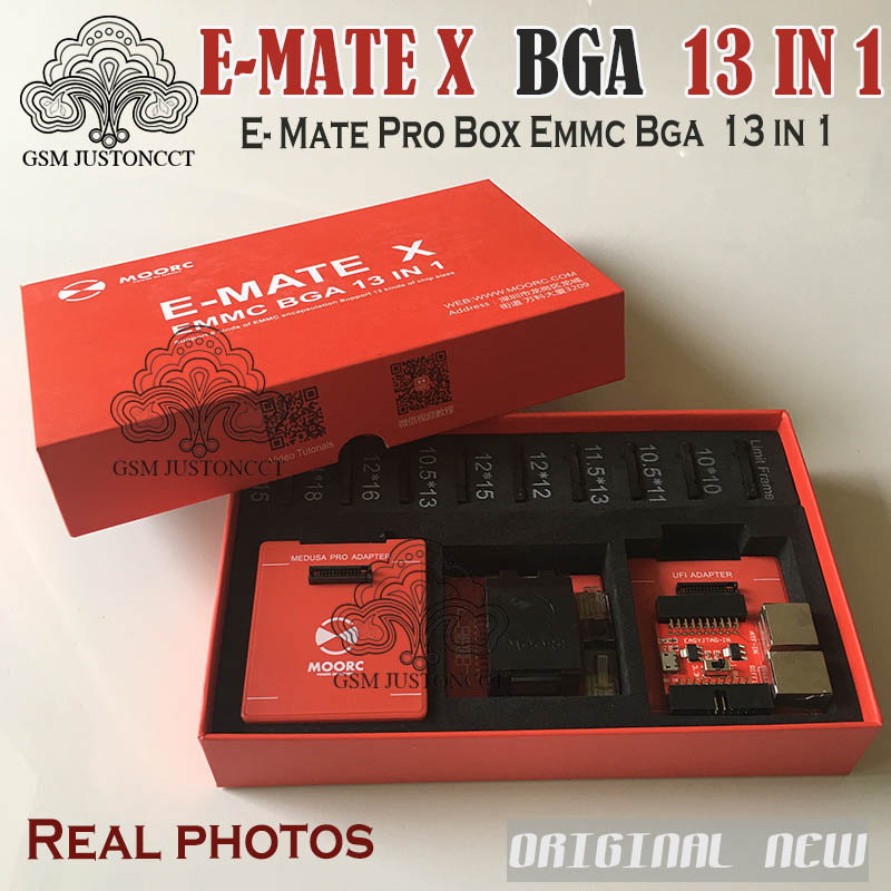 New Moorc E-mate X E Mate Pro Box Emmc Bga 13 In 1 Support 100 136 168 153 169 162 186 221 529 254 Communication Equipments