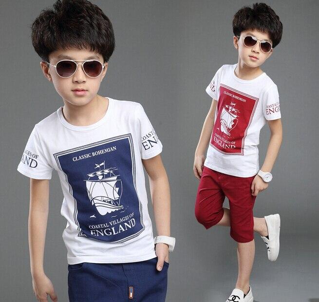 Boys Summer Suits Children's Clothing Set Kids Boys Clothes Sets Cotton T shirt + Pants 2 pieces Suit Kid Boy Casual Sport Suits blanco elipso s ii grey beige