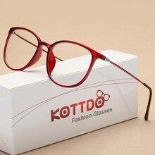 KOTTDO, новинка, модные сексуальные очки для женщин, квадратные пластиковые очки, оправа, прозрачные ретро очки для близорукости
