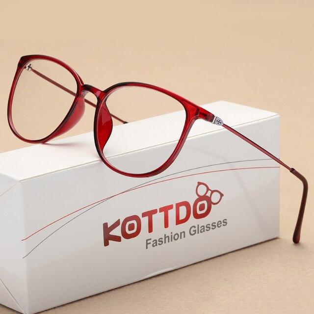 c10998b0b66c KOTTDO New Fashion Sexy Eyeglasses for Women Square Plastic Spectacles  Glasses Frame Transparent clear Retro Myopia