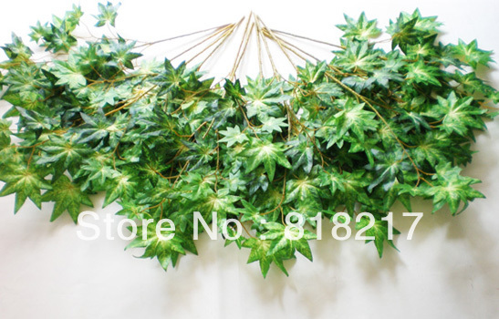 72 Stems Green Maple Leaf Artificial Plants Tree Branches 1800 Leaves