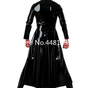 Image 2 - Latex Wind Coat Latex Long Jacket Latex Rubber Mens Suit plus size Priest halloween cosplay costume