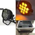 (8 штук/Чехол) Dj light quad wash led par 12x15 Вт par led ip 65 led par 64 rgbwa slimpar чехол для наружного освещения полета