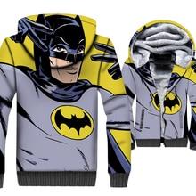 New Style Anime 3D Hoodies Men 2019 Autumn Winter Casual Batman Wonder Women Cat Print Hip Hop Sweatshirts Jackets