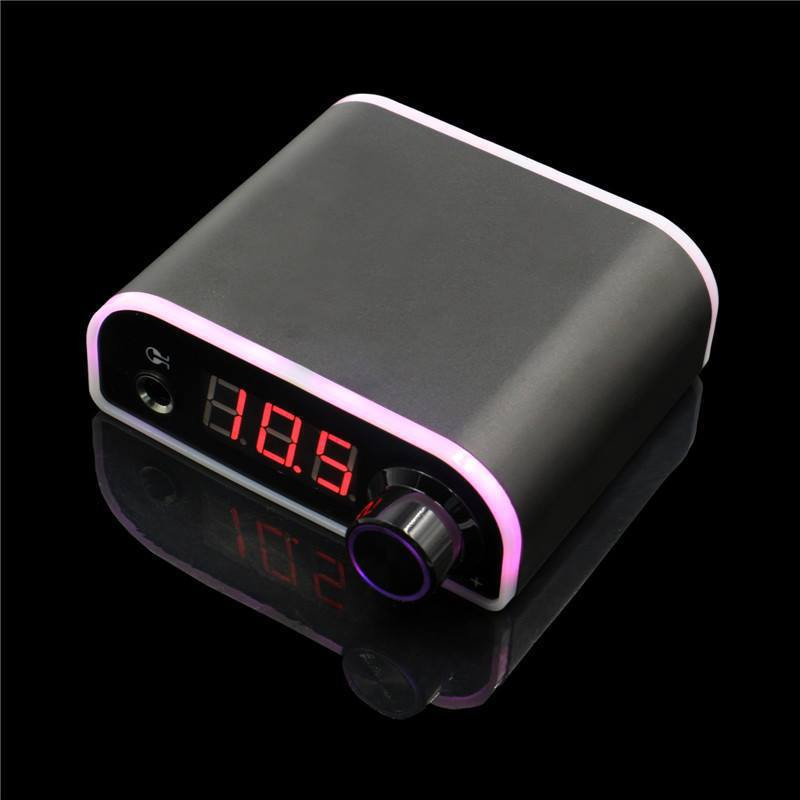 Mini Digital LCD Screen Tattoo Power Supply With Power Adaptor Colorful Change Adjust Voltage for Coil & Rotary Tattoo Machines