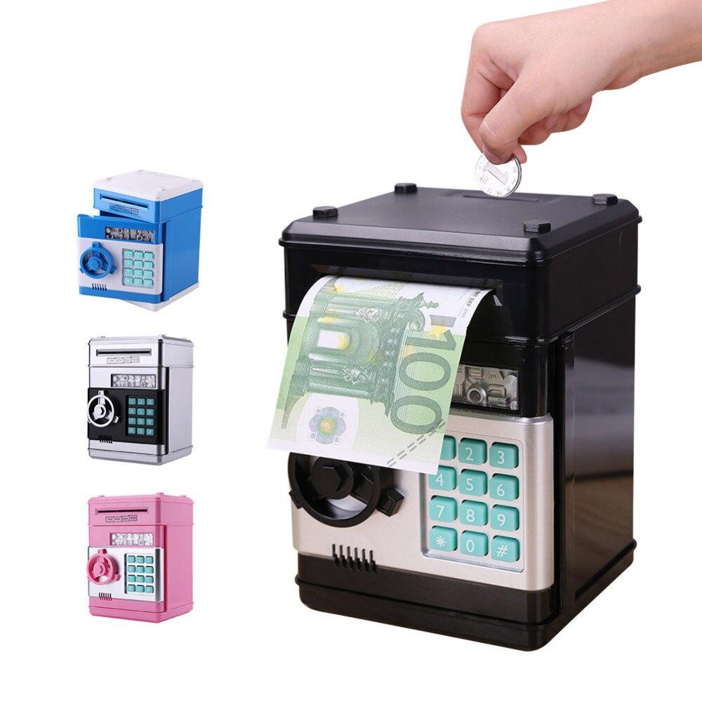 Hucha electrónica segura caja de dinero para los niños Digital monedas en efectivo de ahorro de caja de cajero automático máquina de regalo de día de San Valentín