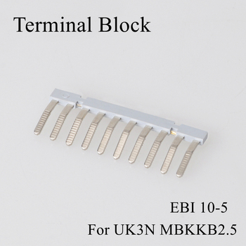 1pc/lot EB1 EBI 10-6 Terminal Block Side Plug Short Connector Electrical Connection Insulation Shorting Bar Strip Bridge For UK image