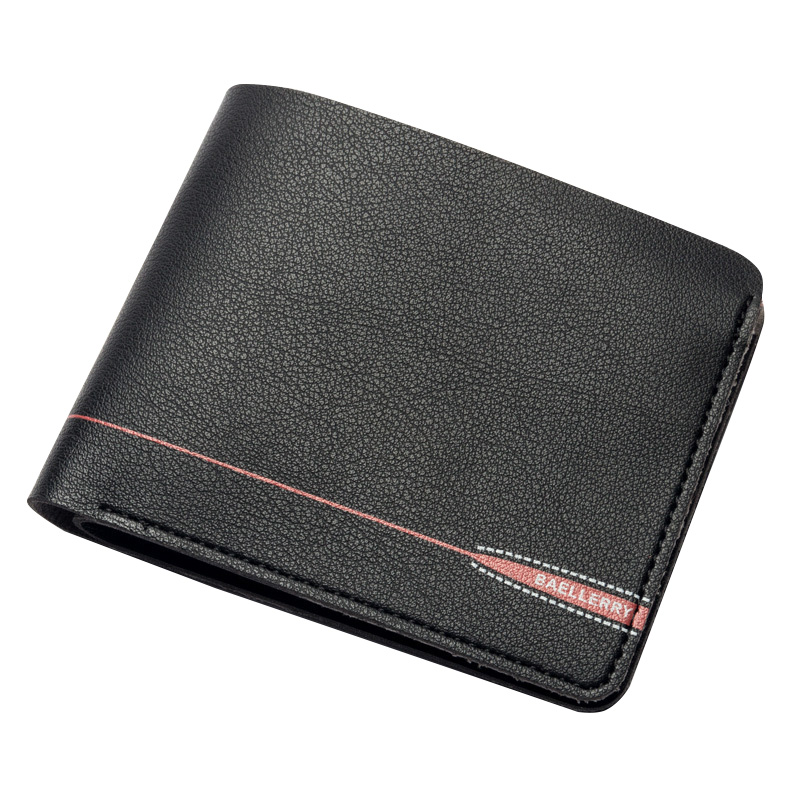 Short Wallets for Men Money Clips Cards Slots Soft Solid PU Leather Vintage Zipper Bifold Coins Pockets Male Walets Carteira