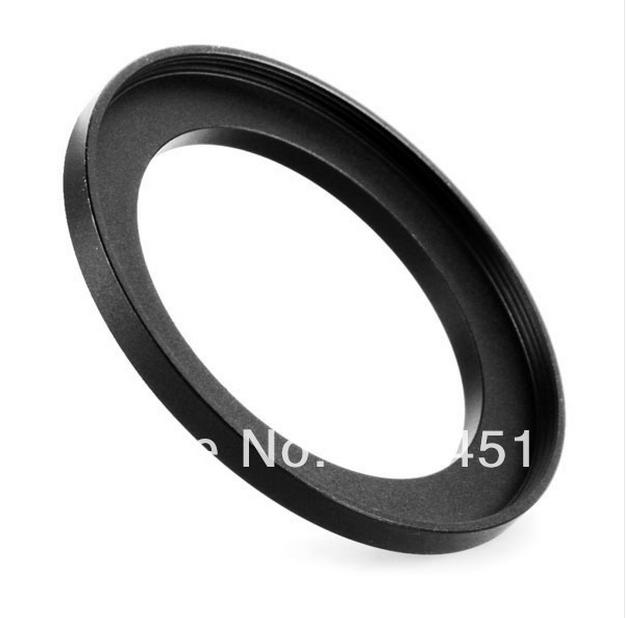 NEW 49mm-62mm BLACK Aluminum metal selling 49-62mm 49 to 62 49mm to 62mm Step Up Ring Filter Adapter HOT Wholesale!