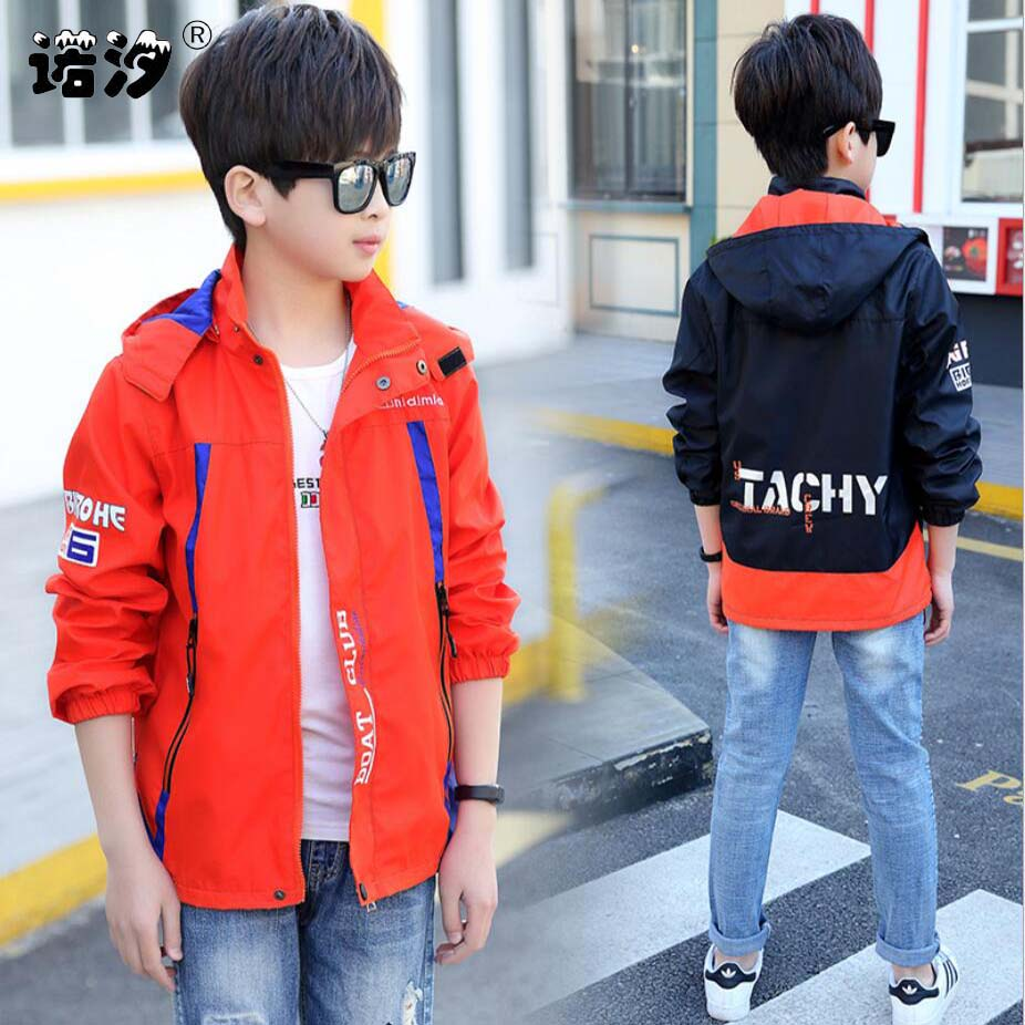 Spring boys jacket 3-13T boys outdoor clothes children high quality windbreaker kids sport coat cyling skin adventure mountain