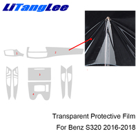 Litanglee For MERCEDES CLS260 2016 Interior Protective Film Full Set TPU Center Console Transparent Refit Sticker