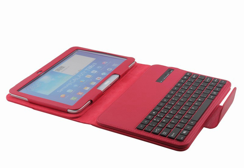 online store 2d02d d7a82 US $25.95 |Removable Bluetooth Keyboard for Samsung Galaxy Tab 3 10.1 P5200  P5210 P5220 with Leather Case Cover-in Tablets & e-Books Case from ...