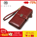 EIMORE Frauen Kupplung 2019 Neue Brieftasche Split Leder Brieftaschen Weibliche Lange Brieftasche Frauen Zipper Geldbörse Geld Tasche Für iPhone 7 plus