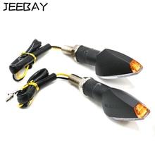 JEEBAY 1Pair Universal Motorcycle Turn Signals Led Motobike Blinker Indicator Super Bright Flasher Signal Light