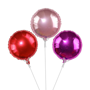 Image 5 - 5 sztuk 18 złoty srebrny balon okrągły ślub balony z folii aluminiowej nadmuchiwane prezent balon urodziny strona dekoracji helu Ball