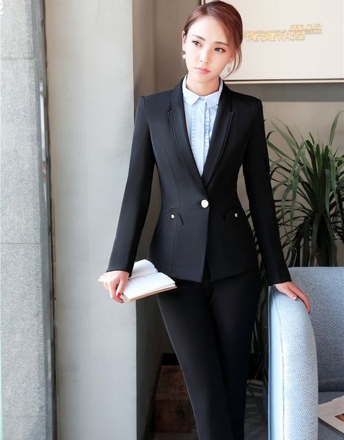 Formal Office Uniform Designs for Women Pant Suits Blazer and Jacket ...