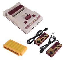 Classic Family Video Game Console to TV Coolbaby RS-35 Red White TV 8Bit Game Consoles Player with AV Cable+Game Card 2 Gamepads