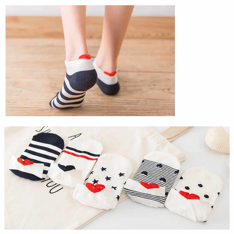 1 paar Feste Baumwolle Trendy Glücklich Socken Atmungsaktive Frauen Mädchen Campus Einfache Knöchel Socke Frühling Sommer Beiläufige Kurze Socken