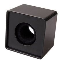 1pc Black ABS Mic Microphone Interview Square Logo Flag Station